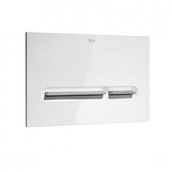 Roca PL5 Dual Flush Operating Plate Matt Chrome