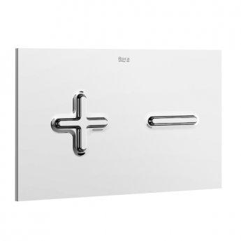Roca PL6 Dual Toilet Flush Plate - White