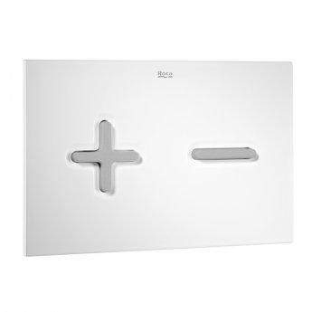 Roca PL6 Dual Flush Plate - Grey & White