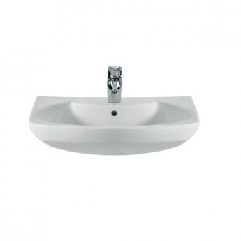 Roca Senso Compact Basin and Full Pedestal, 550mm Wide, 1 Tap Hole