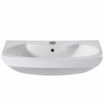 Roca Senso Wall Hung Basin, 580mm Wide, 1 Tap Hole