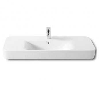 Roca Senso Square Basin and Full Pedestal, 1000mm Wide, 1 Tap Hole