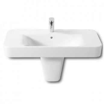 Roca Senso Square Wall Hung Basin, 850mm Wide, 1 Tap Hole