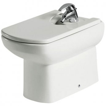 Roca Senso Compact Back to Wall Bidet, 570mm Projection, 1 Tap Hole