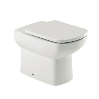 Roca Senso Compact Close Coupled Toilet with Dual Outlet Push Button Cistern, Soft Close Seat