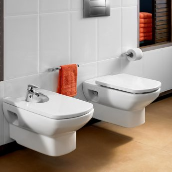 Roca Senso Wall Hung Toilet, 555mm Projection, Standard Seat