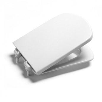 Roca Senso Wall Hung Toilet, 555mm Projection, Soft Close Seat