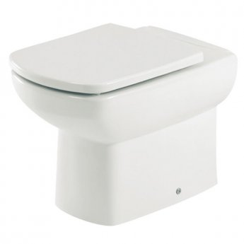 Roca Senso Compact Back to Wall Toilet, 555mm Projection, Soft Close Seat