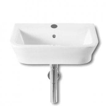 Roca The Gap Wall Hung Basin, 500mm Wide, 1 Tap Hole
