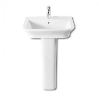 Roca The Gap Basin and Full Pedestal, 550mm Wide, 1 Tap Hole