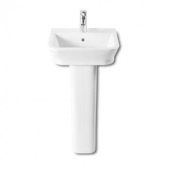 Roca The Gap Basin and Full Pedestal, 450mm Wide, 1 Tap Hole