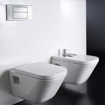 Roca The Gap Wall Hung Bidet, 540mm Projection, 1 Tap Hole