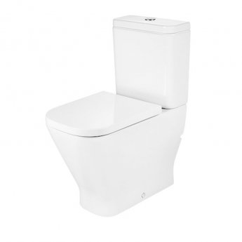 Roca The Gap Close Coupled Comfort Height Back to Wall Toilet Pan - Soft Close Seat