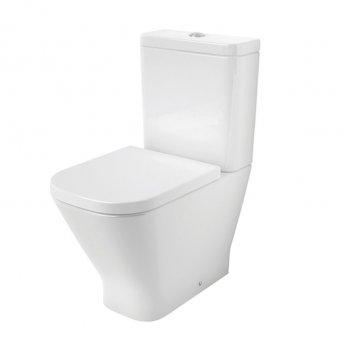 Roca The Gap Close Coupled Toilet WC Dual Flush Cistern - Standard Seat