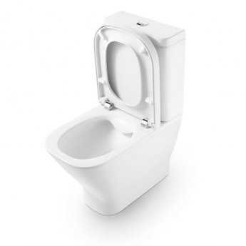 Roca The Gap Close Coupled Toilet WC Dual Flush Cistern - Soft Close Seat