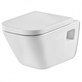 Roca The Gap Wall Hung Toilet, 540mm Projection, Soft Close Seat
