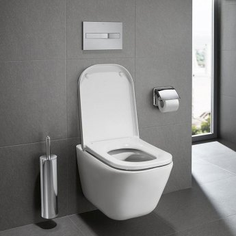 Roca The Gap Rimless Wall Hung Toilet, 540mm Projection, Standard Seat