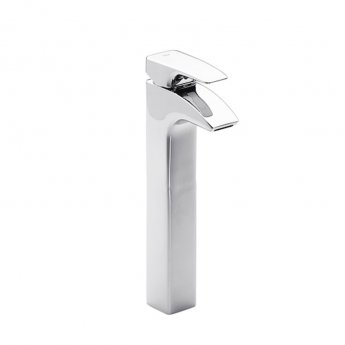 Roca Thesis Extended Basin Mixer Tap with Pop Up Waste - Chrome