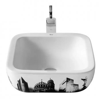 Roca Urban Berlin Sit On Countertop Basin 400mm W - 0 Tap Hole