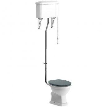 Signature Aphrodite High Level Toilet with Cistern - Sea Green Ash Soft Close Seat