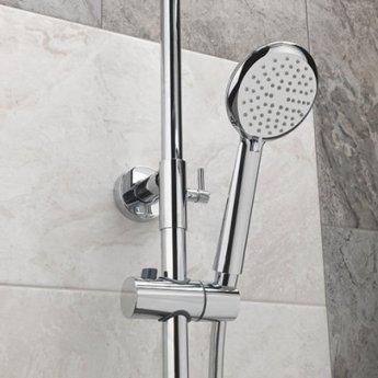 Sagittarius Aurora Deluxe Bar Shower Mixer with Shower Kit + Fixed Head - Chrome