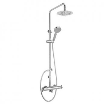 Sagittarius Avant Bar Mixer Shower with Shower Kit + Fixed Head - Chrome