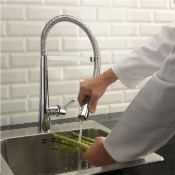 Sagittarius Aztec Mono Kitchen Sink Pull-Out Mixer Tap - Chrome