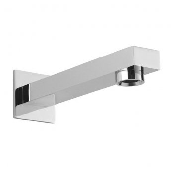 Sagittarius Evolution Wall Mounted Bath Spout and Square Cover Plate 180mm