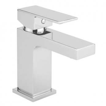 Sagittarius Blade Mono Basin Mixer Tap with Sprung Waste Single Handle - Chrome