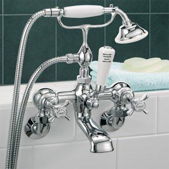 Sagittarius Churchmans Deluxe Bath Shower Mixer Tap Wall Mounted - Chrome