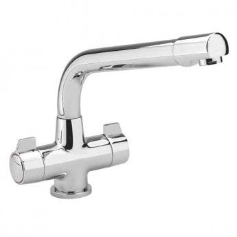 Sagittarius Contract Mono Kitchen Sink Mixer Tap, Swivel Spout - Chrome