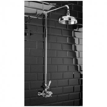 Sagittarius Edwardian Thermostatic Exposed Shower Mixer with Riser Kit - Chrome