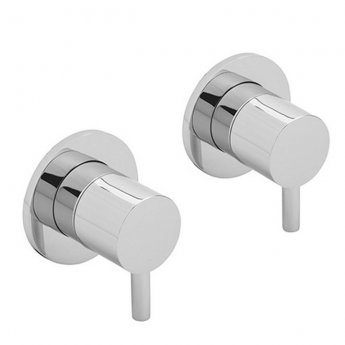 Sagittarius Ergo Side Valves, Wall Mounted, Chrome