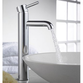 Sagittarius Ergo Extended Mono Basin Mixer Tap with Sprung Waste - Chrome