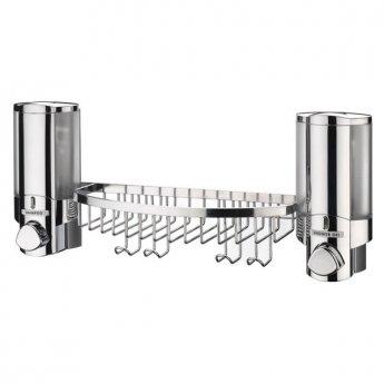 Sagittarius Vienna Soap Dispenser and Shelf Tidy Chrome