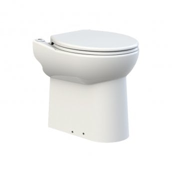 Saniflo Sanicompact Cisternless Toilet WC with Built-In Macerator Pump