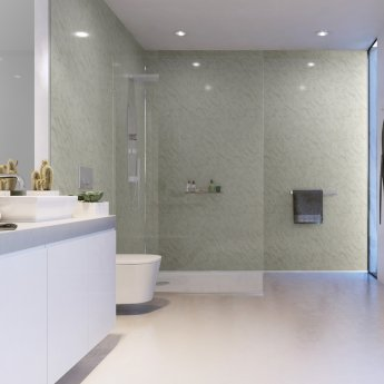 Showerwall Square Edge MDF Shower Panel 900mm Wide x 2440mm High - Carrara Marble