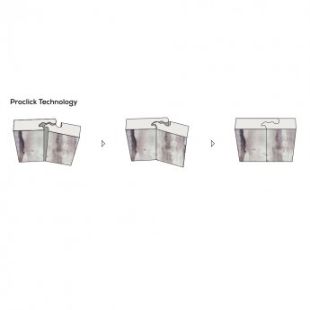 Showerwall Proclick MDF Shower Panel 600mm Wide x 2440mm High - White Galaxy