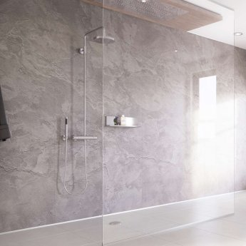 Showerwall Proclick MDF Shower Panel 600mm Wide x 2440mm High - Moonstone