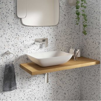 Showerwall Square Edge Wall Panelling Mssppbtezzzz29000 Positano Blue Terrazzo 1200mm
