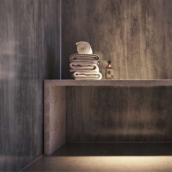 Showerwall Proclick MDF Shower Panel 600mm Wide x 2440mm High - Washed Charcoal