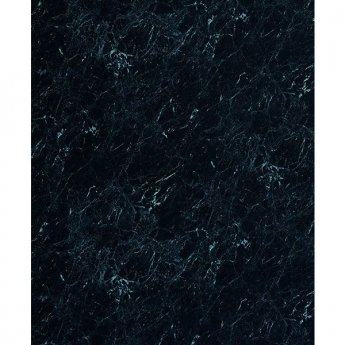 Showerwall Straight Edge Waterproof Shower Panel 1200mm Wide x 2440mm High - Black Marble
