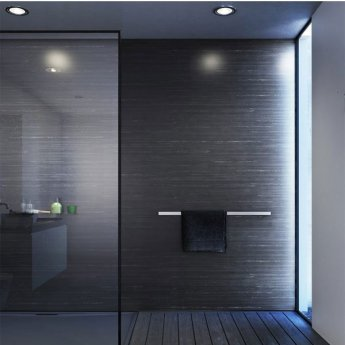 Showerwall Straight Edge Waterproof Shower Panel 900mm Wide x 2440mm High - Black Glacial