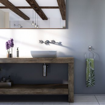 Showerwall Straight Edge Waterproof Shower Panel 1200mm Wide x 2440mm High - Linea White