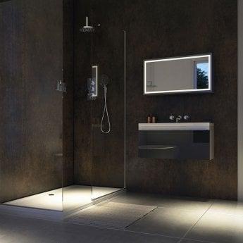 Showerwall Straight Edge Waterproof Shower Panel 900mm Wide x 2440mm High - Urban Gloss