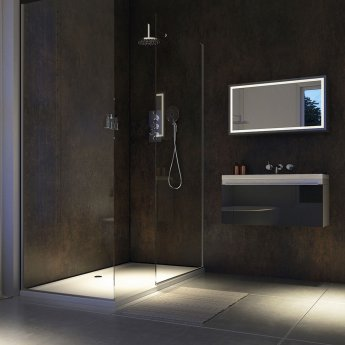 Showerwall Straight Edge Waterproof Shower Panel 1200mm Wide x 2440mm High - Urban Gloss