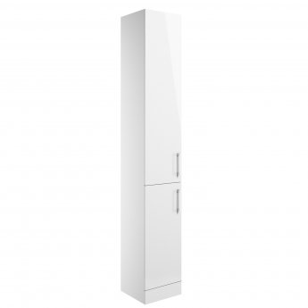 Signature Aalborg Floor Standing 2-Door Tall Unit 300mm Wide - White Gloss