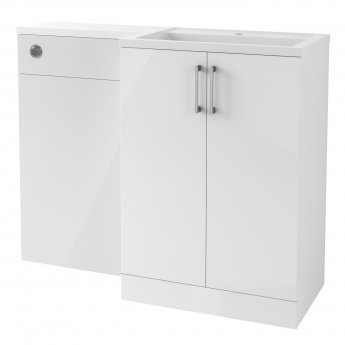 Signature Aalborg RH Combination Unit with Polymarble Basin 1100mm Wide - White Gloss