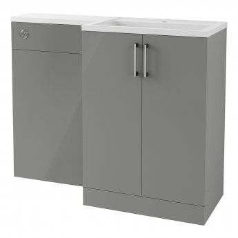 Signature Aalborg RH Combination Unit with Polymarble Basin 1100mm Wide - Grey Gloss
