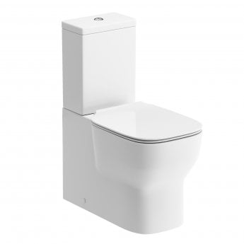 Signature Achilles Close Coupled Back To Wall Toilet with Cistern - Soft Close Seat